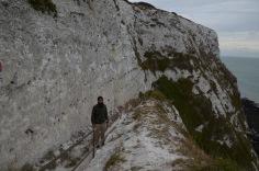 Climbing down