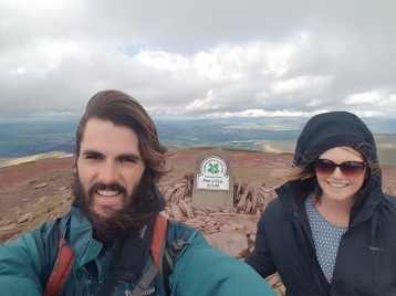 Summit windy selfie