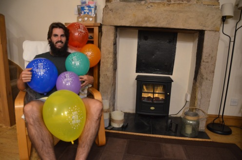 Party for two by the fireplace