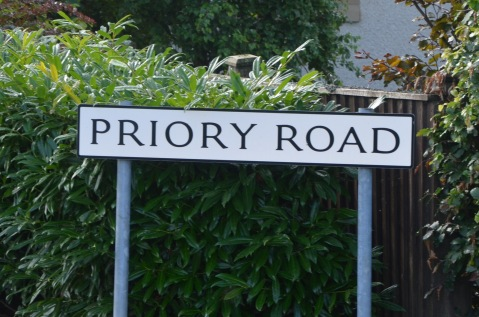 We live on Priory Road, right?