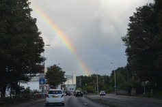 Rainbow as we leave Inverness
