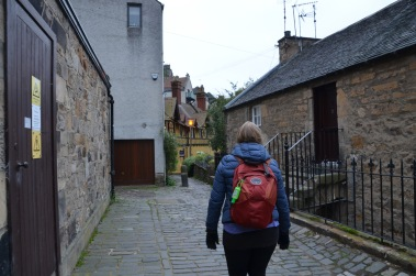 Walking through Dean Village