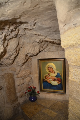 The place Mary breastfed baby Jesus