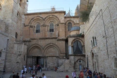 Arriving at the Holy Sepulchre
