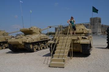 Gemma on the tanks