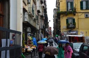 Main pedestrian street Old Naples