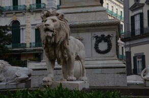 Detailed lion statue