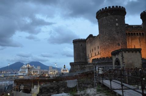 Castle and vesuvius