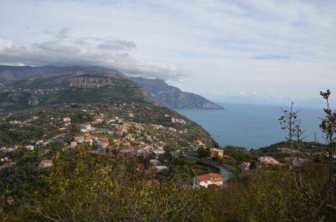 The drive down to Sorrento