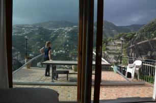 Gemma on the balcony