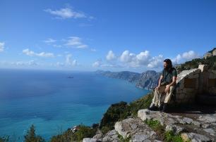 Enjoying Amalfi views