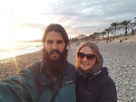 Nice Beach selfie