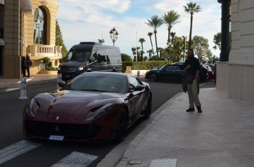 Ferrari outside the casino