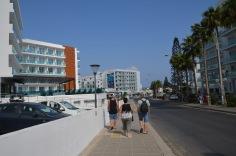 Walking towards the beach
