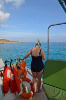 Gemma going snorkelling