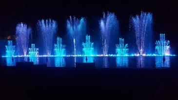 Blue fountains