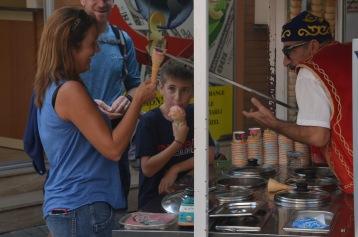 Turkish ice cream vender