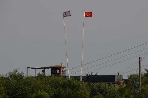 Northern Cyprus and Turkish flag