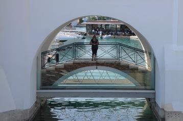Gemma on her bridge