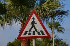 Funny walking sign