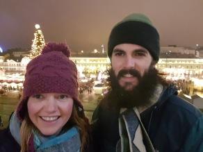 Night market selfie