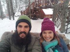 Sleigh ride selfie