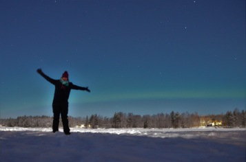 Gemma and the northern lights