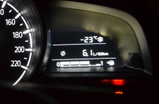 Outside car temperature