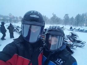 Snow mobile selfie