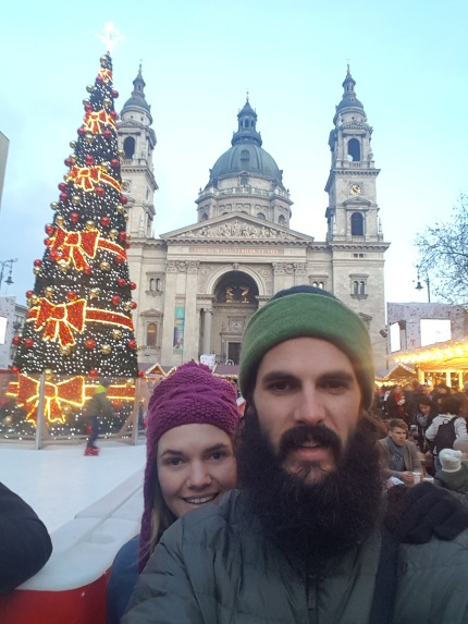 Market and Basilica selfie