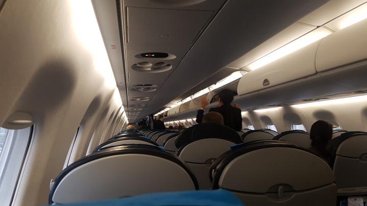 Empty plane to Tallinn
