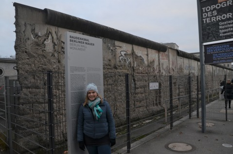 Gemma at the Berlin Wall
