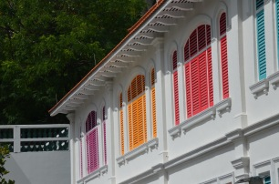 Colourful shutters